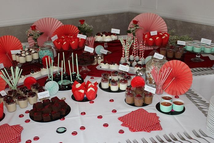 słodki stół w domu nad rzeką
